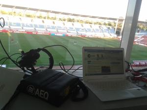 Imagen del estadio de los Juegos del Mediterráneo, hogar la U.D. Almería