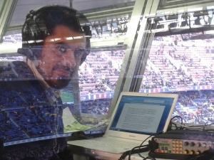 Antes  de narrar el Barça-Córdoba para COPE esta temporada