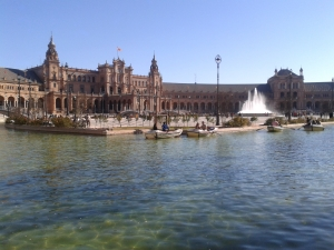 Estanque de la Plaza de España de Sevilla