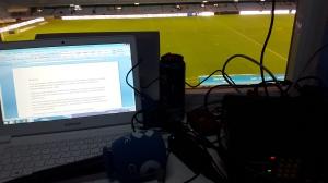 El equipo, preparado para contar el Celta-Córdoba del 31 de enero
