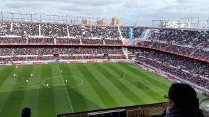 Imagen del partido entre el Sevilla y el Córdoba en el Pizjuán