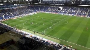 Imagen del partido disputado en Cornellà entre Espanyol y Córdoba