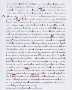 La carta de Belén Esteban corregida por el catedrático