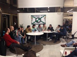 Imagen de la última mesa redonda de Cordobamanía en febrero