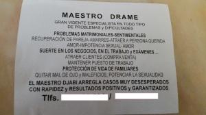 """El anuncio del """"Maestro"""" Drame"""