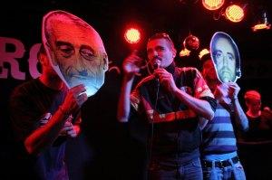 Los Ganglios, en concierto. A tope.