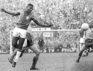 Pelé durante la final de 1958