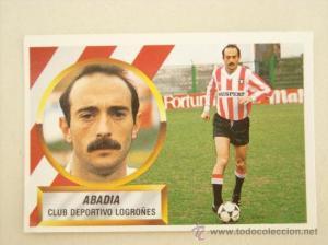 El Tato Abadía. Su bigote y calva le hacen un icono del fútbol de los 80 y 90.