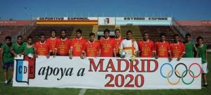 El Club Deportivo Español de Buenos Aires muestra su apoyo a Madrid 2020 en su estadio España