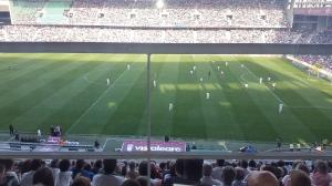 Imagen del partido disputado en El Arcángel entre Córdoba y Atlético