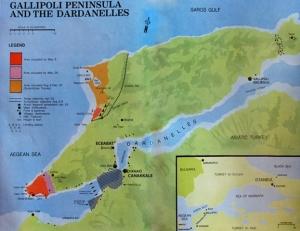 Mapa que explica el lugar exacto donde se desarrolló la batalla