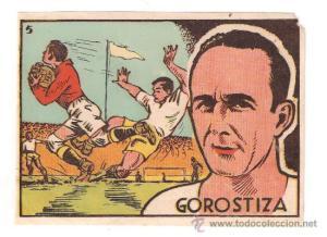 Estampa de Gorostiza, ya como futbolista del Valencia