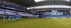 Espectacular imagen del Carlos Tartiere a reventar antes del partido ante el Cádiz
