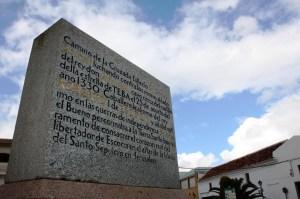 La lápida de Sir James Douglas en Teba