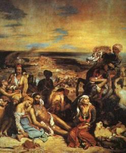 """""""La matanza de Quíos"""", cuadro de Eugéne Delacroix (1824)"""