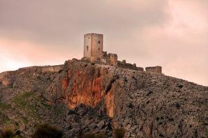 Vista del Castillo de la Estrella de Teba