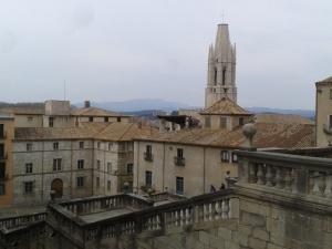 Vista del precioso casco viejo de Girona