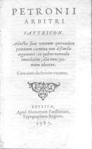 Edición de El Satiricón de 1587