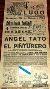 Cartel de la plaza de toros de Lugo en cuya terna se encuentra El Pinturero