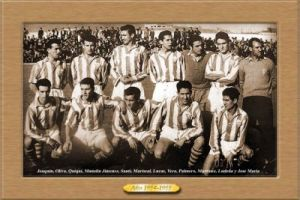 Imagen del primer Córdoba C.F. , que compitió en Tercera en la 54-55 (Soydelcordoba.com)