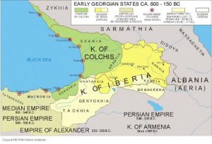 Mapa de la Iberia del Caúcaso
