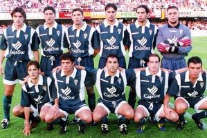 E:userspmerinoEscritorio30j0001.JPG - HOR - Formacion del Cordoba C.F. Equipo del ascenso en Cartagena. 30 de junio de 1999.  - CARTAGENA