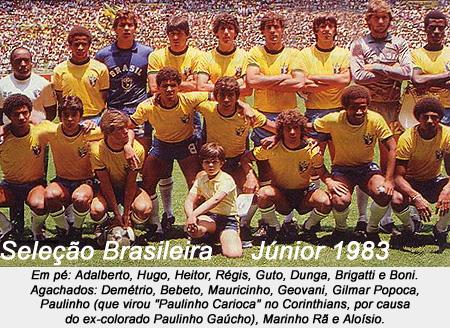 seleccion junior brasileña 1983